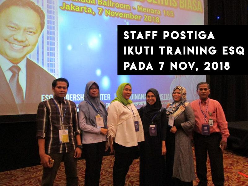 Mencetak Karyawan Unggul, Postiga Ikuti Pelatihan ESQ