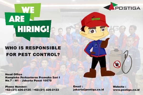 Lowongan Operator Pest Control Wilayah Kalideres & Gading Serpong