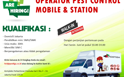Lowongan Pekerjaan Operator Pest Control Mobile & Station