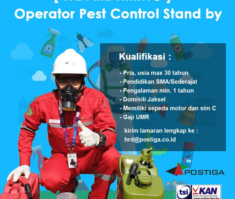 Lowongan Operator Pest Control Stand by