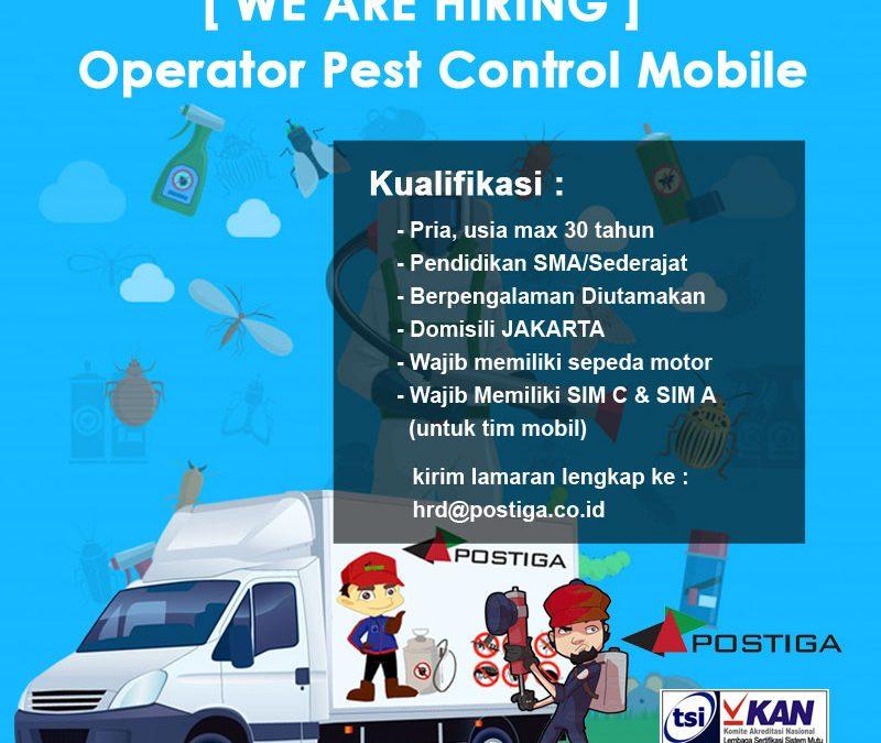Lowongan Pest Control Mobile Area Jakarta
