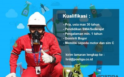 Lowongan Operator Pest Control Stand by Area Bogor