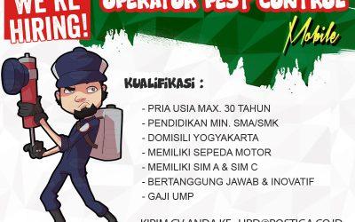 Lowongan Operator Pest Control Mobile Area Jateng & DIY