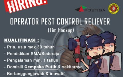Lowongan Operator Pest Control RELIEVER (Tim Backup)