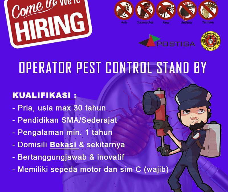 Lowongan Operator Pest Control Stand by Area Bekasi