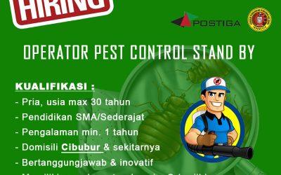 Lowongan Operator Pest Control Stand by Area Cibubur