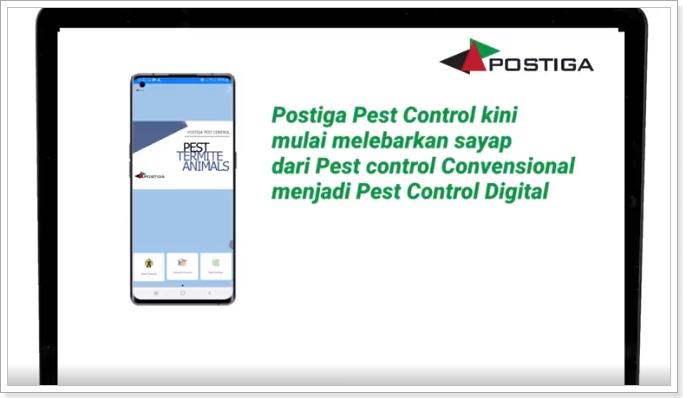 Launching Aplikasi Postiga Pest Control