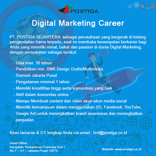 Lowongan Digital Marketing Jakarta Pusat