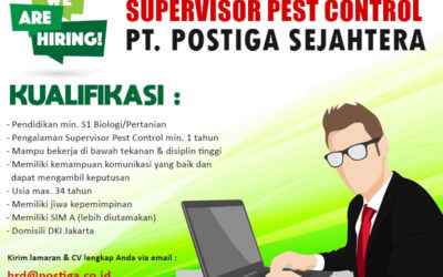 Lowongan Supervisor Pest Control Postiga